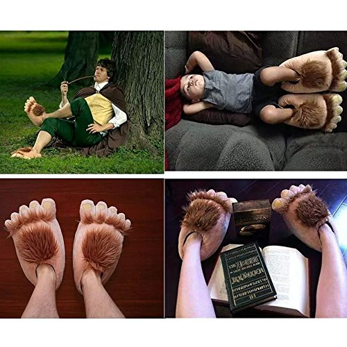 Animal Slippers Adventure Hobbit COSEAN Slippers Slippers Plush Bear Warm Paw Furry tnqpUP