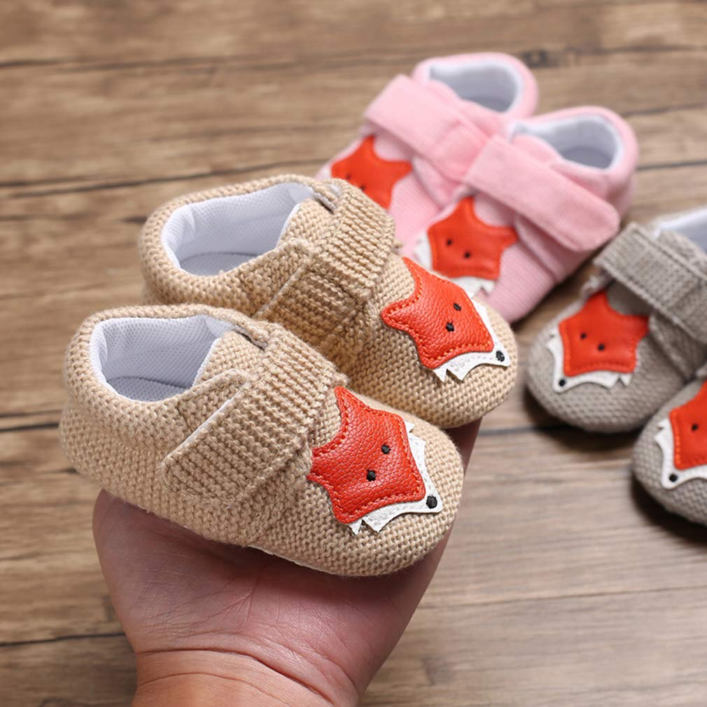 Infant Unisex Baby Boys Girls Sneakers Soft Sole Cute Cartoon Moccasins Frist Walker Shoes