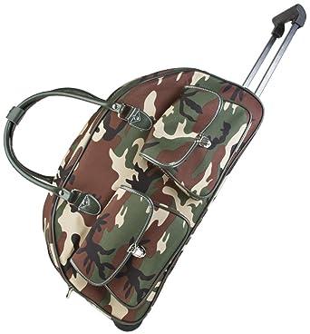393c48334c32 Ever Moda Camo Rolling Duffle Bag (Green)