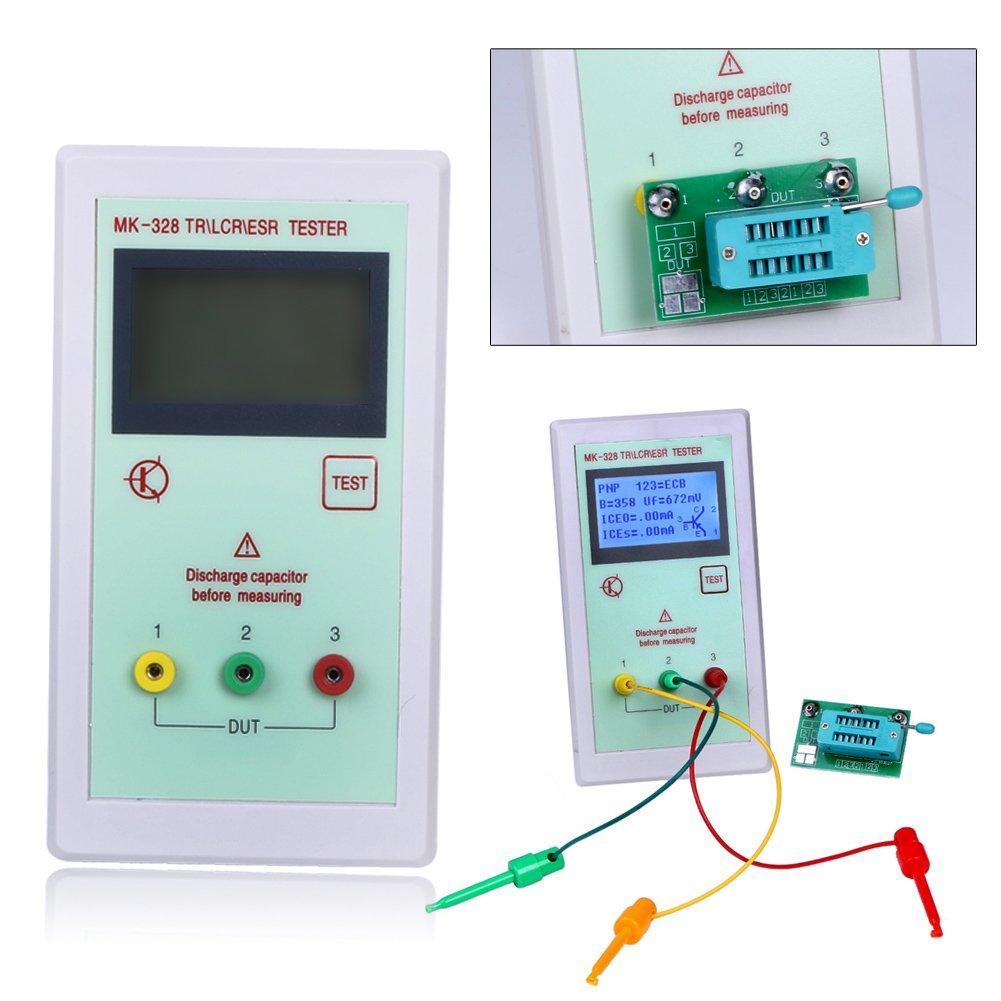 Amazon.com: Portable MK-328 MK328 LCD NPN/PNP Transistor Tester ...
