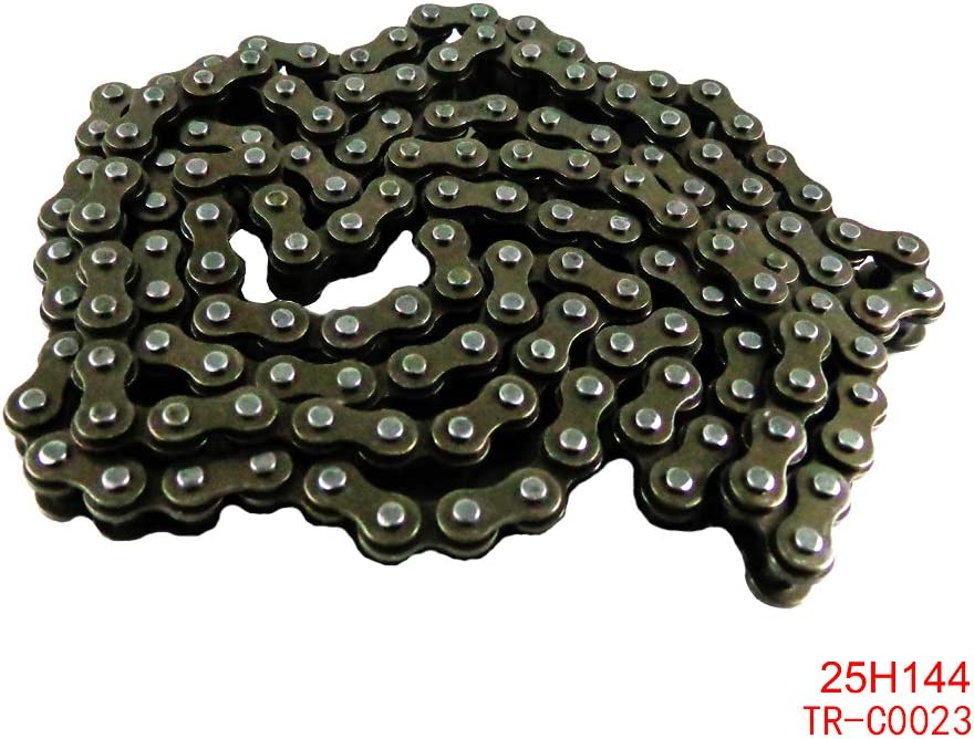 25H Chain for 47cc 49cc 2 Stroke Pocket Bike Mini Bike Dirt Pit Bike ATV Quad Chopper 25H 138