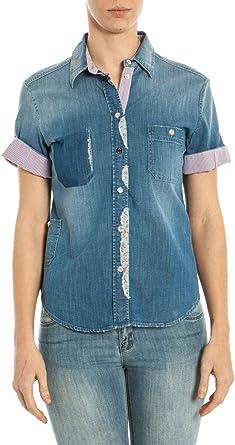 ARMANI JEANS AJ - Mujer Camisa A5C19G6 Camisa Denim Muestra 40: Amazon.es: Ropa y accesorios