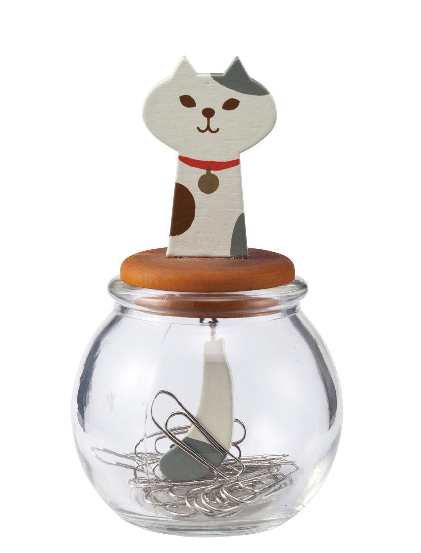 DECOLE: ''MIRANDA'' CAT TAIL CLIP BOTTLE (Calico Cat)