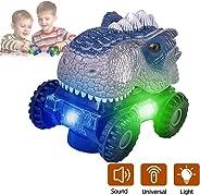 Niskite Dinosaur Toys for 3-8 Year Old Boys, Automatic Dinosaur Car with Led Flashlight and Dinos Sound,Best Birthday Gifts f