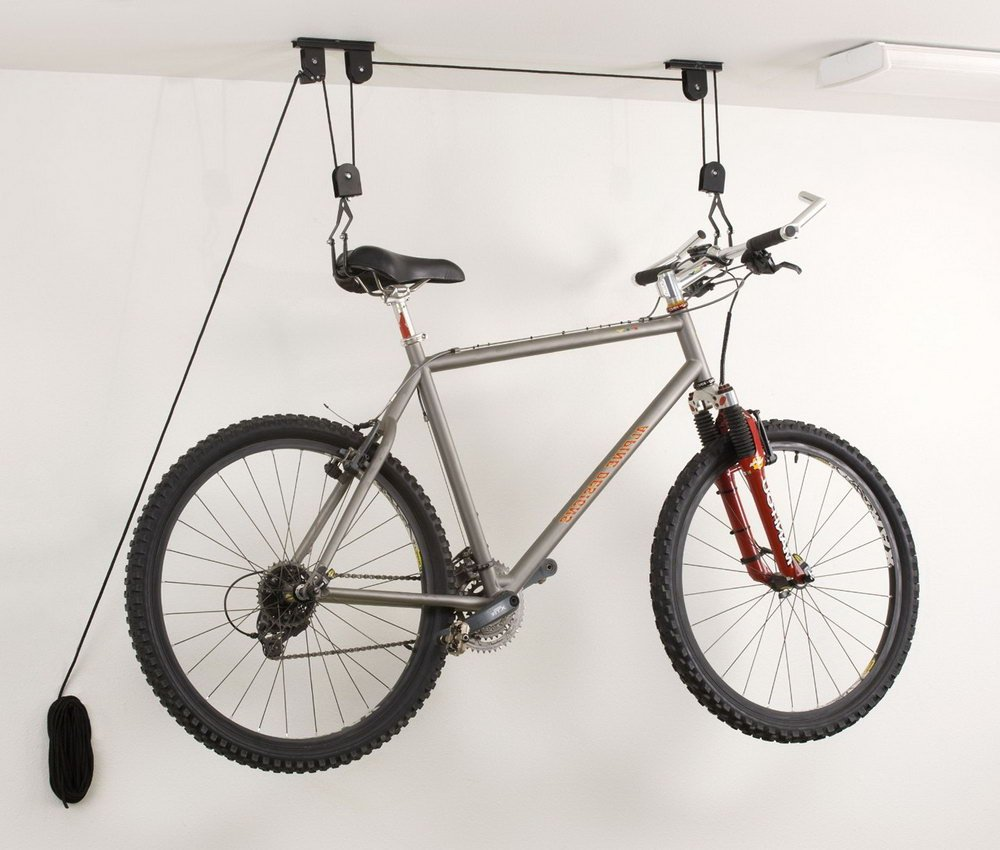 New 20KG Bicycle Bike Ceiling Hanger Lift Pulley Hoist Garage Rack Storage Stand