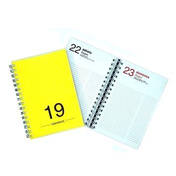 Agenda 2019 diaria 365 días tamaño 15 x 21 cm - A5 - con ...