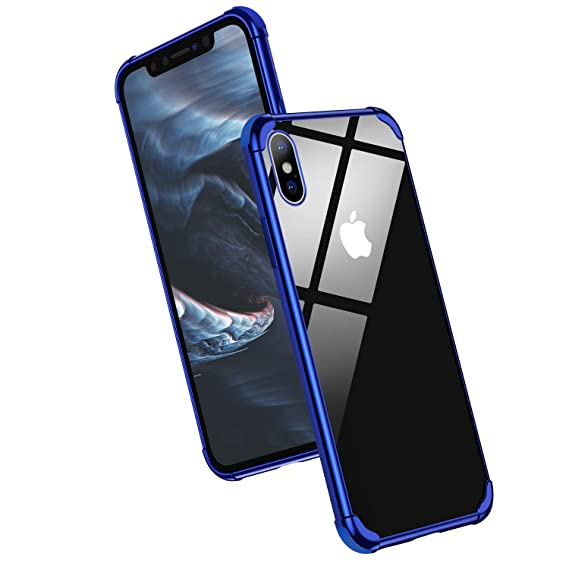 reputable site c75fd 8054e Meifigno Crystal Clear iPhone X Case/iPhone Xs Case Stylish Soft Slim Case  [Shock Absorption] with Premium Air Bumper Protection for Apple iPhone X ...