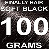 Finally Hair Hair Fiber Refill 100 Grams For Hair Loss Concealing by Finally Hair (Soft Black)