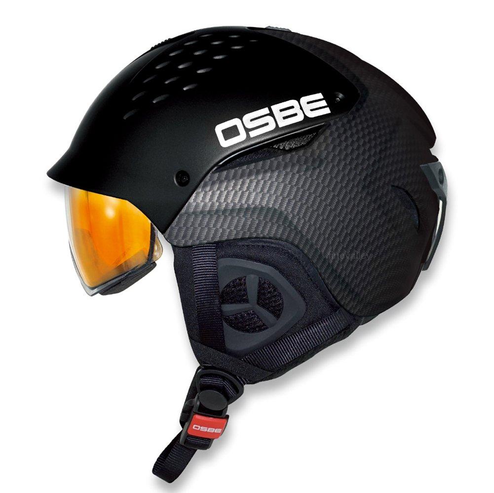 OSBE ハイブリッド スキー&スノーボードヘルメット CARBON LOOK  L-XL(58-62)