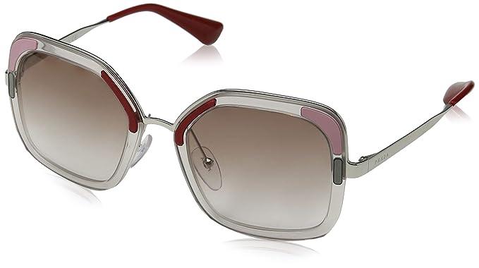 Prada 0PR 57US Gafas de sol, Transparente Brown, 54 para ...