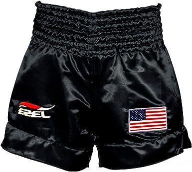 Unisex Muay Thai Shorts Kick Boxing Trunk Black Panter Fitness Training Short Pants
