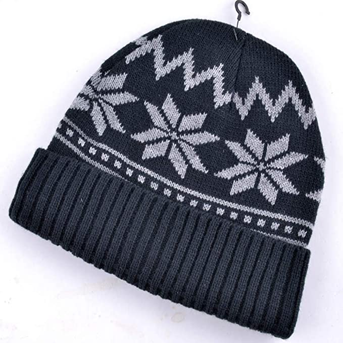 Mj Young Merino Wool Skull Beanie Mens Daily Warm Soft Winter Hat