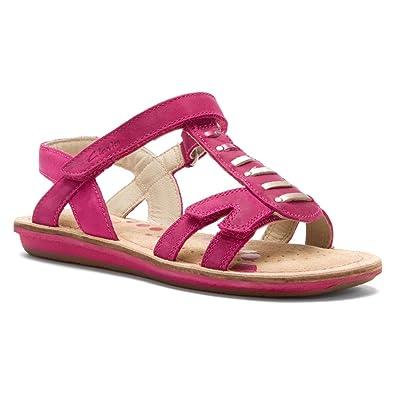 clarks girls flip flops