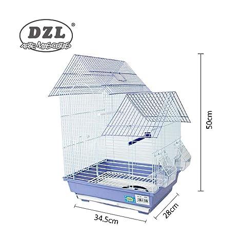 DZL jaula para pajaros(34.5X28X50CM) (PURPURA): Amazon.es ...