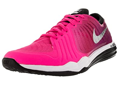 promo code 57af1 2db3b Amazon.com   Nike Womens Dual Fusion TR 4 Print Running Trainers 819022  Sneakers Shoes (US 7, Hyper Pink Metallic Silver 600)   Road Running