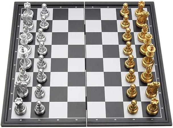 Juego de Mesa de Viaje Magnética de ajedrez plegable grandes magnéticos de mesa con piezas de