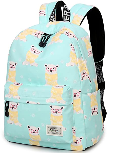 52a9555e83e Amazon.com  Bookbag for Teens, BLOOMSTAR Water Resistant Cool Dog ...