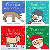 Thats not my Touchy-Feely Board Books Christmas Collection 4 Books Set
