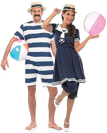 Fancy Me - parejas de hombre y mujer 1920s Bañador para ...