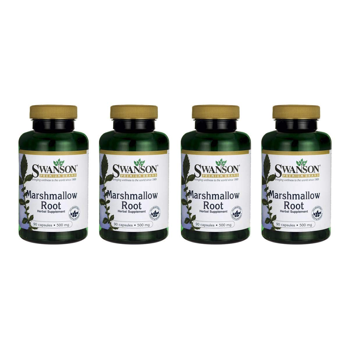 Swanson Marshmallow Root 500 mg 90 Caps 4 Pack