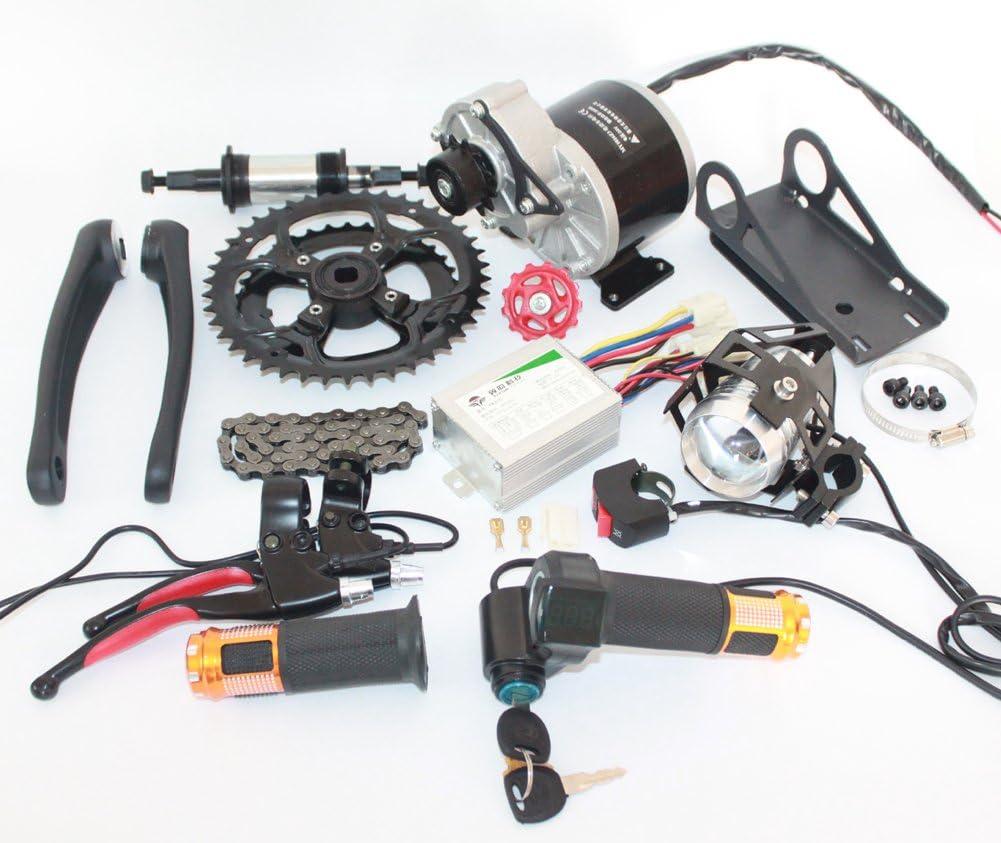 L-faster 48V 450W Bicicleta eléctrica de montaña Mid-Drive Kit de conversión Kit de Bicicleta eléctrica DIY E-Bike Piezas: Amazon.es: Deportes y aire libre