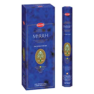 HEM Myrrh Incense Sticks - Pack of 6 - 120 count - 301g