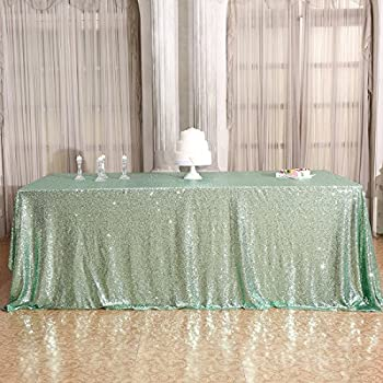 High Quality 3E Home 50×72u0027u0027 Rectangle Sequin TableCloth For Party Cake Dessert Table  Exhibition