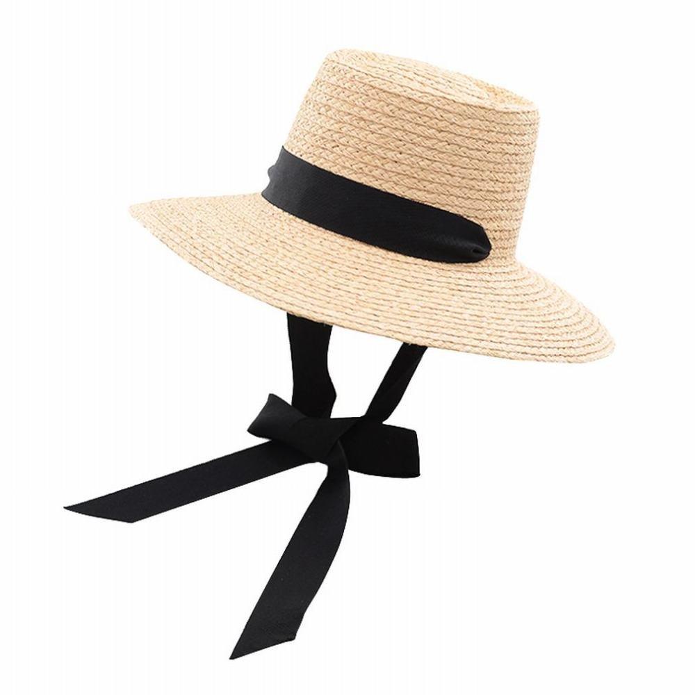 SLR Europa und Amerika Wind Ribbon Bow Tether Hut Frau Outdoor Tourismus Strand Strohhut,A,M