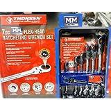 Thorsen 7pc MM Metric Flex-Head Ratcheting Wrench Set