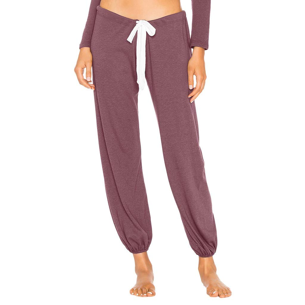 Pantalones de Yoga Mujeres SUNNSEAN Sexy Pantalon Largo ...