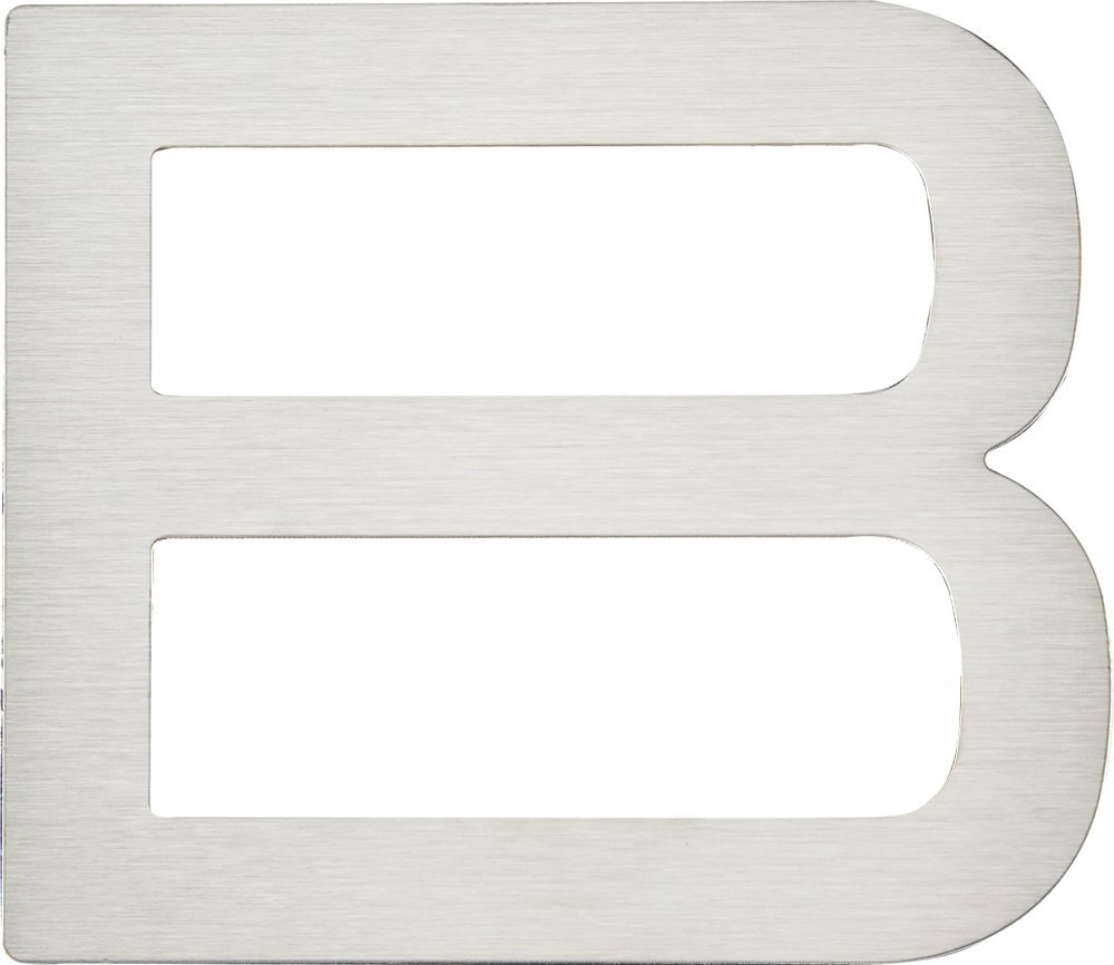 Atlas Homewares PGNB-SS 4-Inch Paragon House Letter-B, Stainless Steel