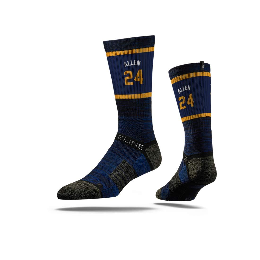 Strideline NBA Utah Jazz Grayson Allen Jersey Premium Athletic Crew Socks Black One Size