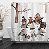 ALFALFA  Home Bathroom Decorative Polyester Fabric Shower Curtain with Hooks, Waterproof, Mildew Resistant 72'' W x 72'' H (180CM x 180CM) - Animals Concerts