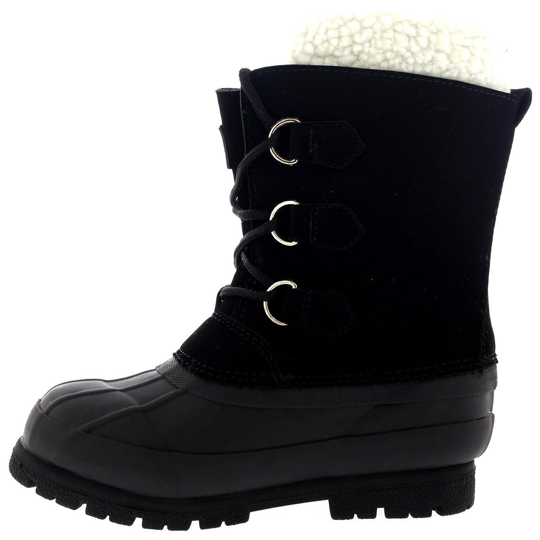 Kinder Pull On Drawstring Wolle Gefüttert Gummi Waterproof Schnee Regen  Pelz Stiefel: Amazon.de: Schuhe & Handtaschen