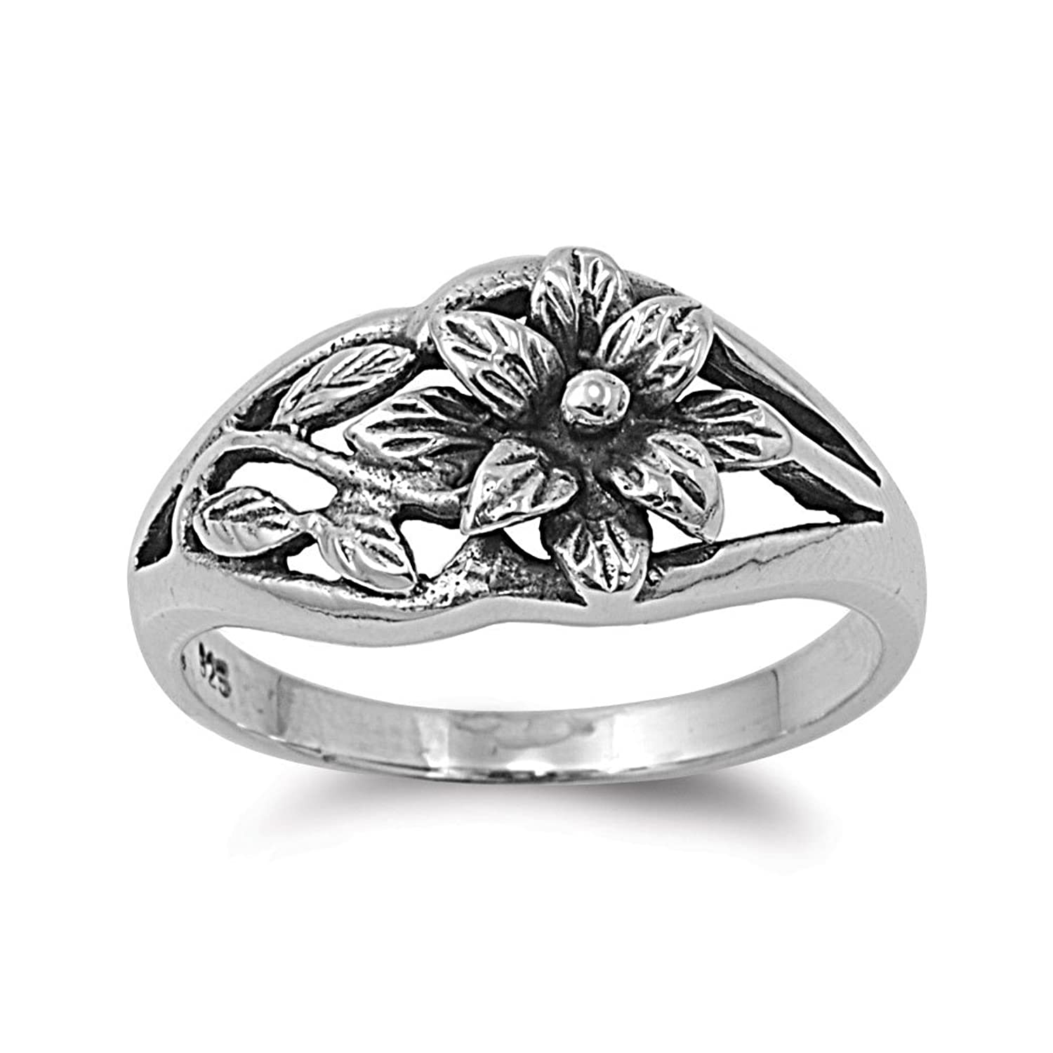 flower ring zirconia engagement lotus womens image rings cubic sterling silver ladies jewellery