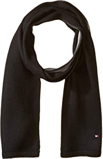 8afa5a906e02b Lacoste Men's Classic Wool Ribbed Scarf, Navy Blue, One Size at ...