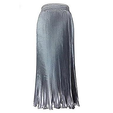 NTNT Damen Lassen Sie uns Einkaufen Victoria Jahrgang Seide Röcke  elastische Taillenrock große Mode-Emulation