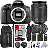 Canon EOS Rebel T6i Digital SLR Camera + EF-S 18-55mm f 3.5-5.6 IS STM Zoom Lens w Essential Photo and Travel Bundle