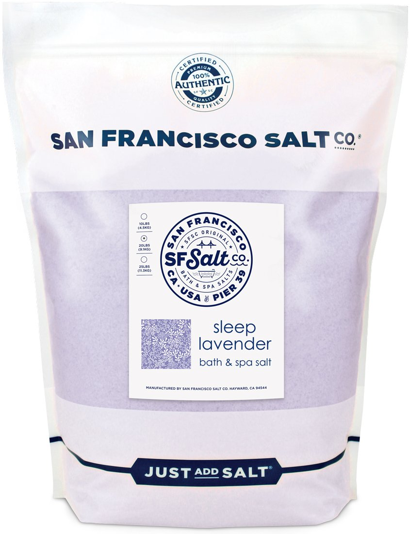 Sleep Lavender Bath Salts - 20 lb. Bulk Bag by San Francisco Salt Company