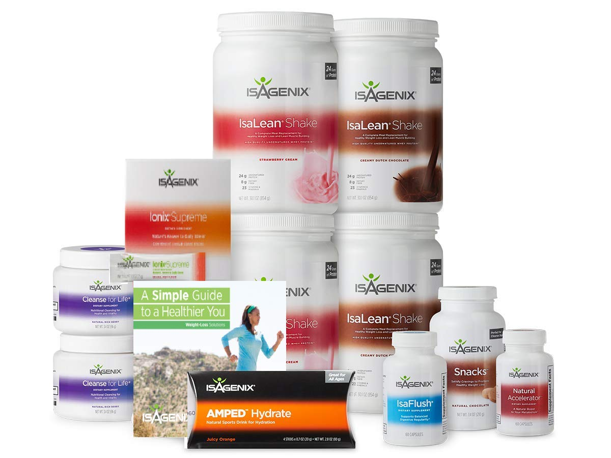 30 Day Weight Loss System with 2 Creamy Strawberry, 2 Chocolate Shake