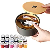 NALEDI Portable Sewing kit Household Sewing Box Easy to Carry and Store Cute Button Design Sewing Accessories