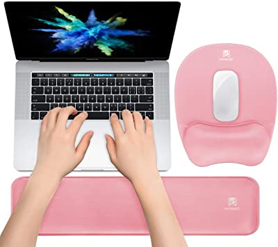 Soft Mouse Pad Wrist Support Keyboard Wrist Rest for Computer Laptop Gaming /& Office Comfortable for Easy Typing /& Pain Relief
