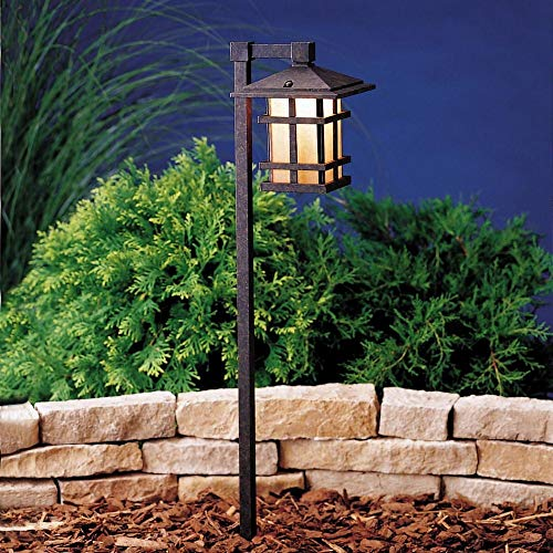 Kichler 15322AGZ Cross Creek Path & Spread 1-Light 12V, Aged Bronze