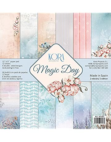 Pack (12) Papeles Scrapbooking Magic Day (30,5 x 30,5
