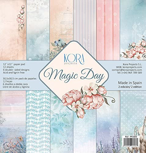 Pack (12) Papeles Scrapbooking Magic Day (30,5 x 30,5 cm): Amazon.es: Hogar