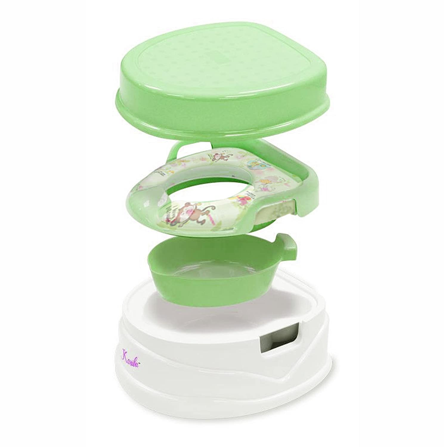 Karibu 3-in-1 Potty Training Step Stool and Soft Seat with Handle (Green) Amazon.co.uk Baby  sc 1 st  Amazon UK & Karibu 3-in-1 Potty Training Step Stool and Soft Seat with Handle ... islam-shia.org