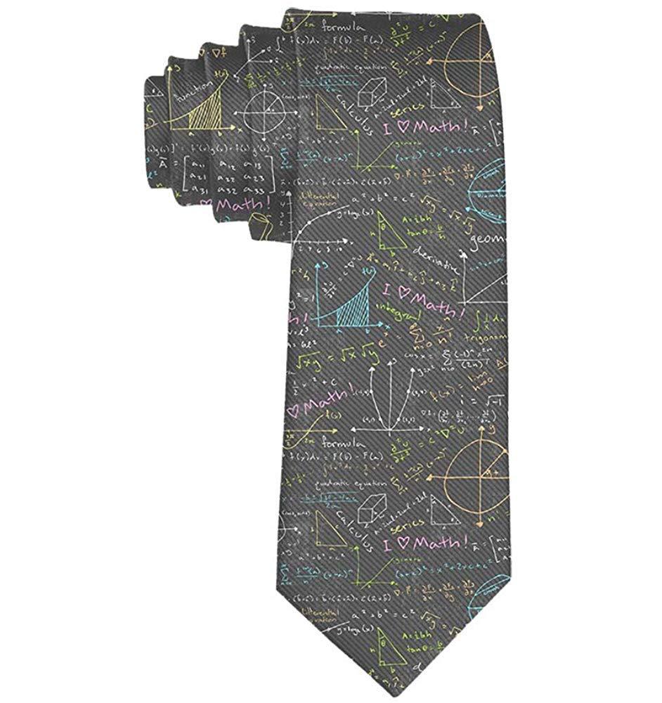 Corbata de poliéster de fórmula matemática de corbata delgada para ...