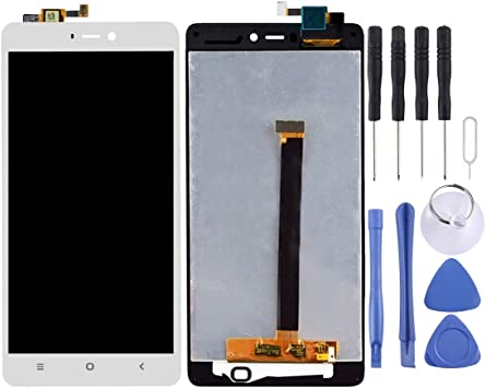 Color : Black Smartillumi for LCD Screen Replacement for Xiaomi Mi 4S LCD Screen and Digitizer Full Assembly Black