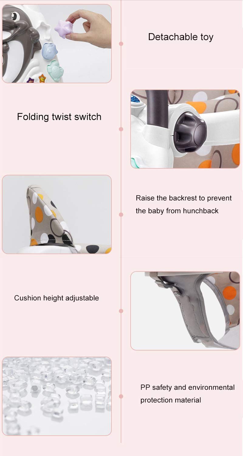 YSY Baby Walker - Foldable Preventing Leg Bend Rollover Multifunctional Baby Walker - Suitable for 6-24 Months Baby Stroller (10th Anniversary)