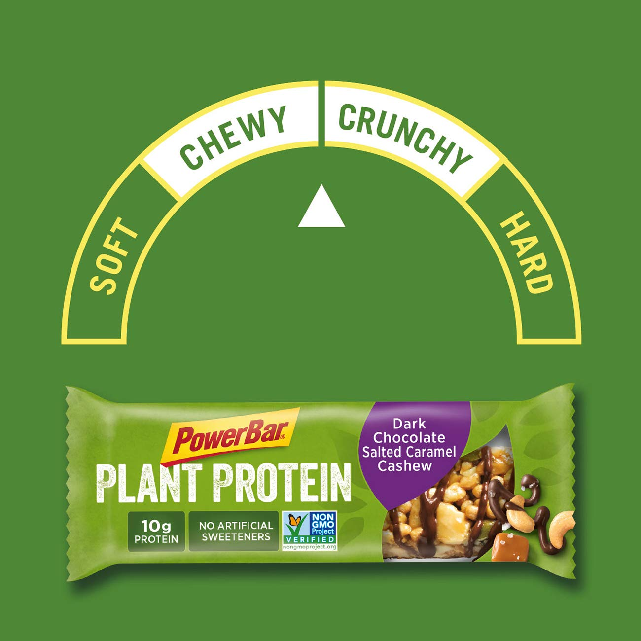 PowerBar Plant Protein Bar, Dark Chocolate Salted Caramel Cashew, 15 Count, Pack of 1 by Powerbar (Image #7)